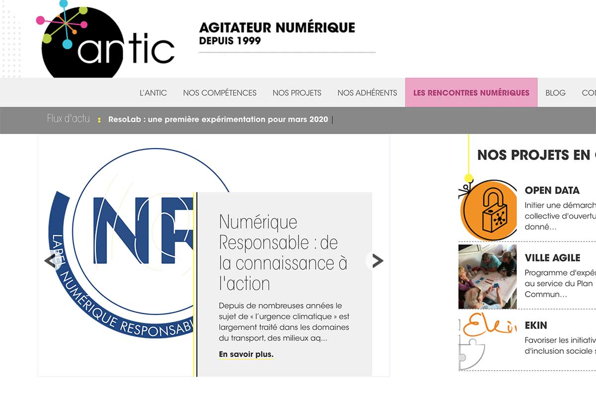 Antic, agence web basque depuis 1999