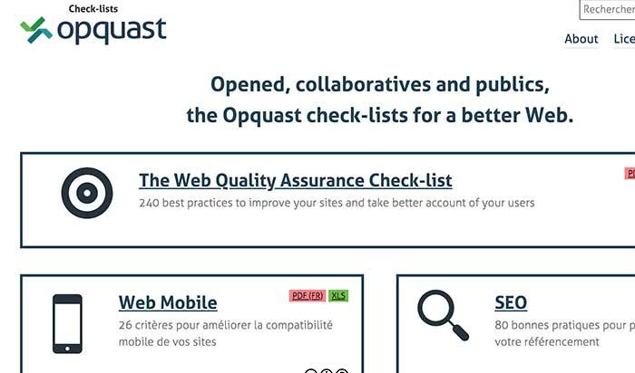 Check List Opquast