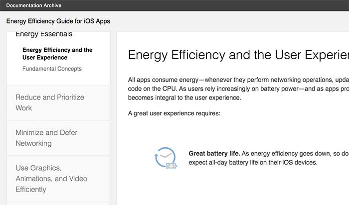 Energy Efficiency Guide for iOS Apps