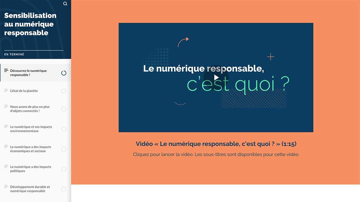 MOOC Numérique Responsable, Module de Sensibilisation
