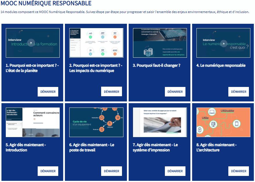 MOOC Numérique Responsable, Module Complet