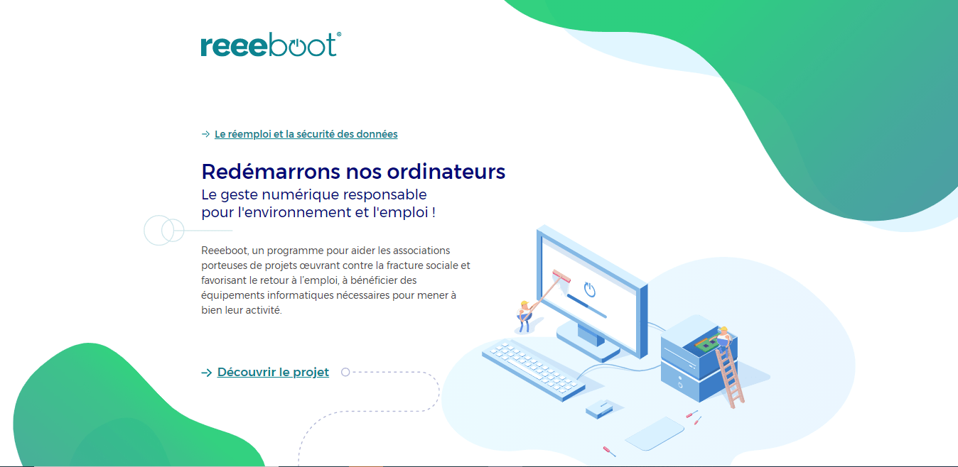 Projet REEEBOOT-Ordi3.0, Le réemploi et la sécurité des données